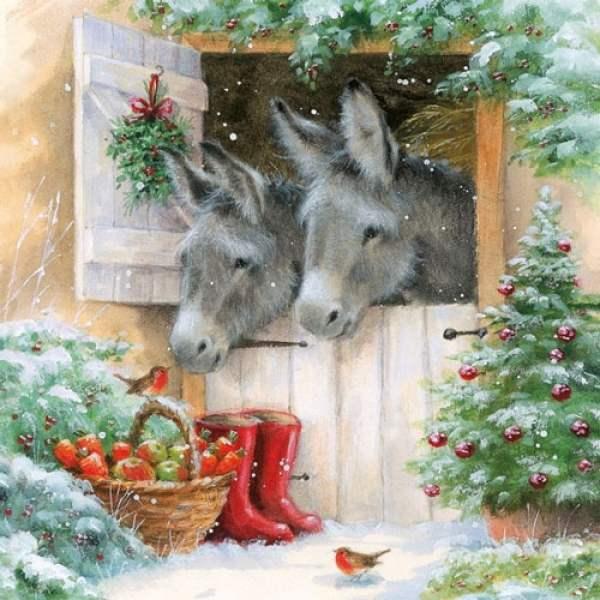 Serviette Weihnachten