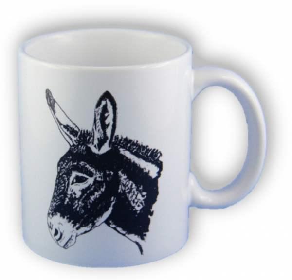 Tasse mit Eselkopf